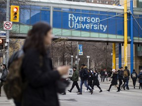 A general view of the Ryerson University campus in Toronto. The Ontario Government has announced changes to student tuition programs.