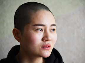 Li Wenzu, the wife of imprisoned lawyer Wang Quanzhang, at her home in Beijing on Jan. 28, 2019.