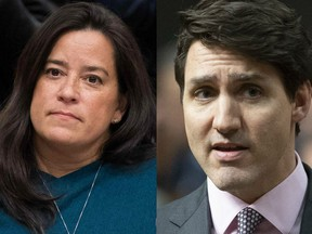 Former justice minister and attorney general Jody Wilson-Raybould and Prime Minister Justin Trudeau.