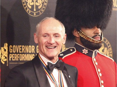 Actor Colm Feore, recipient of a Lifetime Artistic Achievement award, poses for a photo after arriving on the red carpet at the Governor General's Performing Arts Awards at the National Arts Centre in Ottawa on Saturday, April 26, 2019.