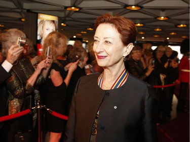Dance educator Mavis Staines, recipient of a Lifetime Artistic Achievement award arrives on the red carpet at the Governor General's Performing Arts Awards at the National Arts Centre in Ottawa on Saturday, April 26, 2019.
