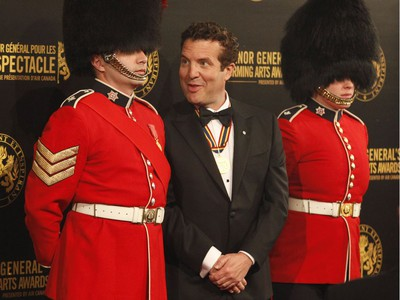 Comedian and television personality Rick Mercer, recipient of a Lifetime Artistic Achievement award, poses for a photo after arriving on the red carpet at the Governor General's Performing Arts Awards at the National Arts Centre in Ottawa on Saturday, April 26, 2019.