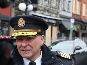 Ottawa Fire Chief, Kim Ayotte, met with the media to comment on the William St fire, April 15, 2019.