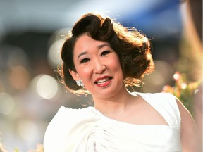 """Host and Best Performance by an Actress in a Television Series  Drama """"for Killing Eve"""" nominee Sandra Oh arrives for the 76th annual Golden Globe Awards on January 6, 2019, at the Beverly Hilton hotel in Beverly Hills, California."""