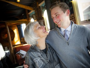 Dr. Michelle Meyer, a naturopathic doctor, along with her son Raffi Meyer-Wertman, who overcame cancer.