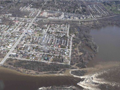 Britannia - Aerial view of the flooding in the National Capital region, April 29, 2019.