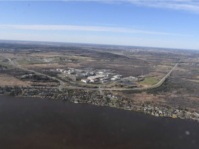 Crystal Beach - Aerial view of the flooding in the National Capital region, April 29, 2019.