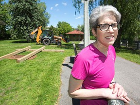 Upset home owner Wendy Myers, who lives near the site of the summer pop-up bistro being installed at Patterson Creek.
