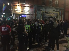 Ottawa police in the crowd at the Glowfair Festival on Friday, June 14, after officers discharged pepper spray onto a group of teens.