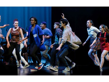 """Cappies Chorus sing """"It's all Happening"""" during the annual Cappies Gala awards, held at the National Arts Centre, on June 09, 2019, in Ottawa, Ont."""