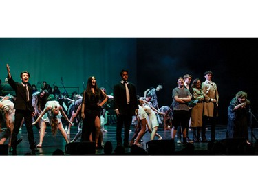 Students perform an excerpt from The Addams Family, Longfields-Davidson Heights Secondary School, during the annual Cappies Gala awards, held at the National Arts Centre, on June 09, 2019, in Ottawa, Ont.