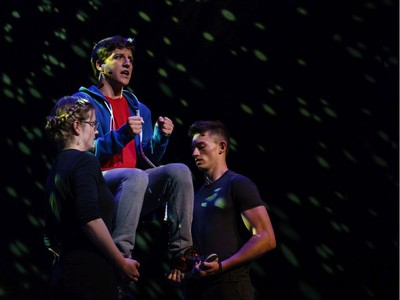 Students perform an excerpt from The Curious Incident of the Dog in the Night-Time, Almonte and District High School, during the annual Cappies Gala awards, held at the National Arts Centre, on June 09, 2019, in Ottawa, Ont.