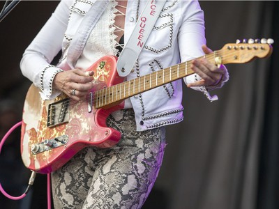 Sue Foley on the Videotron Stage as day 5 of the RBC Bluesfest takes place on the grounds of the Canadian War Museum.