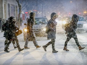 """According to the Canadian Farmers' Almanac, the middle of Canada will be """"whacked"""" with snow and cold spells this winter."""