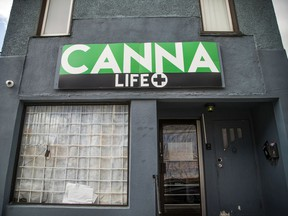 FILES: Canna Life at 352 Preston Street had a closed note in the window Saturday October 13, 2018.