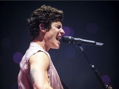 Shawn Mendes performed Sunday at the Canadian Tire Centre.