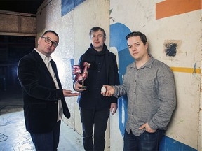 The Toronto jazz trio TuneTown, which consists of, left to right, saxophonist Kelly Jefferson, drummer Ernesto Cervini and bassist Artie Roth. The band plays GigSpace in Ottawa on Sept. 21/2019.