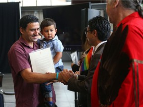 Miroslav Ilchev and his son Christian (from Yugoslavia) became Canadian citizens this past summer at a  Citizenship ceremony in Ottawa. Most Canadians favour immigration.