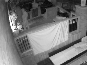 Suspects in a weekend home invasion and shooting captured in security video.