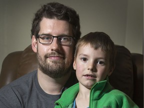 Eric Russell is upset after his six year old son Heath came home from school with a rash and raised bumps on his legs on Tuesday, the day after officials closed parts of the school for moisture related to a water leak.