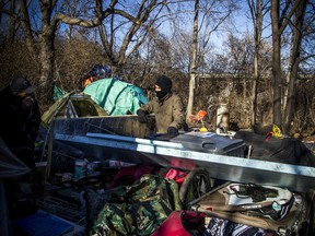 A group of people living in the tent city are being forced to leave the area by Monday morning and pack up their belongings by the city and NCC.