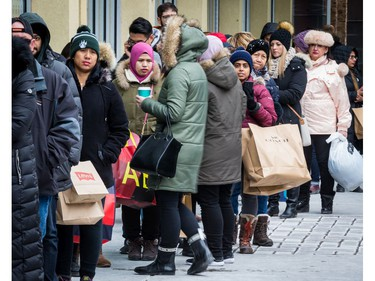 Lots of people out looking for Boxing Day deals at the Tanger Outlets in Ottawa. December 26, 2019. Errol McGihon/Postmedia