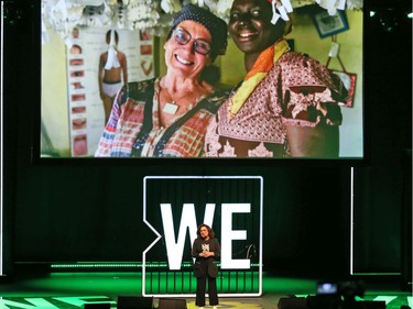 Margaret Trudeau speaks at the We Day festivities held at the National Arts Centre in Ottawa, December 10, 2019.