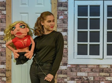 Ilyana Fornes performs as Lucy, during Ashbury College's Cappies production of Avenue Q, on December 12, 2019.