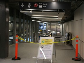 LRT closed at the St. Laurent Station on Jan. 16.
