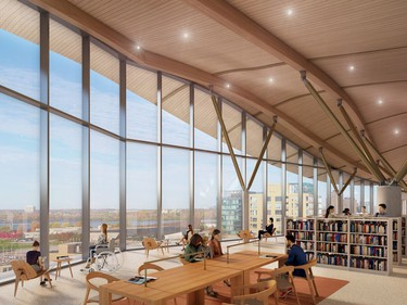 The City of Ottawa, Ottawa Public Library (OPL) and Library and Archives Canada on Thursday unveiled the long-awaited design for the $192.9-million joint facility on LeBreton Flats after spending the past year gathering ideas from the public to use in the final iteration. Credit The City of Ottawa