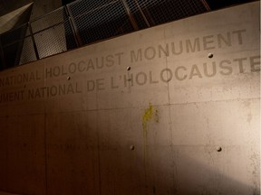 The Ottawa Police Service is investigating the defacing of the National Holocaust Monument on Booth Street. It will be investigated as a hate-motivated incident by the Hate Crimes Section. January 29, 2020. Errol McGihon/Postmedia