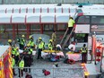 First responders attend to victims of the rush hour bus crash at the Westboro Station near Tunney's Pasture in 2019.