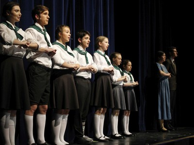 The cast of The Sound of Music, during St. Mother Teresa High School's Cappies production of The Sound of Music, on Feb. 14, 2020, in Ottawa, On.