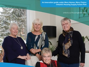 The Golden Girls of Port Perry – Louise Bardswich, Beverly Brown, Martha Casson and Sandy McCully – are featured on the provincial government's Co-owning a Home Guide.