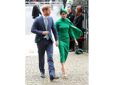 LONDON, ENGLAND - MARCH 09: Prince Harry, Duke of Sussex and Meghan, Duchess of Sussex attend the Commonwealth Day Service 2020 at Westminster Abbey on March 09, 2020 in London, England. The Commonwealth represents 2.4 billion people and 54 countries, working in collaboration towards shared economic, environmental, social and democratic goals.