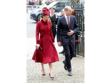 LONDON, ENGLAND - MARCH 09: Catherine, Duchess of Cambridge and Prince William, Duke of Cambridge attend the Commonwealth Day Service 2020 at Westminster Abbey on March 09, 2020 in London, England. The Commonwealth represents 2.4 billion people and 54 countries, working in collaboration towards shared economic, environmental, social and democratic goals.