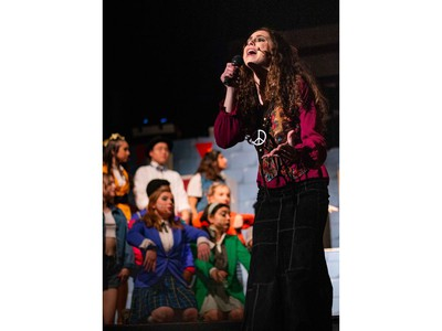 Pauline Fleming played by Hannah Marder-Macpherson, during Colonel By Secondary School's Cappies production of Heathers, on March 6th, 2020, in Ottawa, On.