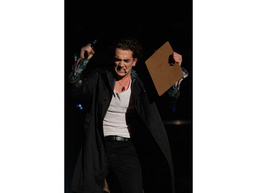 """Jason """"JD"""" Dean played by Tip Finless, during Colonel By Secondary School's Cappies production of Heathers, on March 6th, 2020, in Ottawa, On."""
