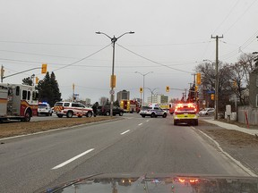 A man has been charged following a two-vehicle collision at Riverside Drive and Pleasant Park Road Thursday evening.