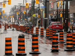 The northbound lane of Elgin Street is also closed until the end of July.