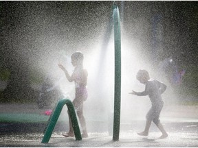 Files: Ahhhh. It will be a good day to visit a splash pad.