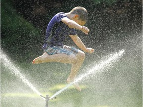 Cooling off in a sprinkler: Think about how our water consumption patterns have changed during COVID-19.