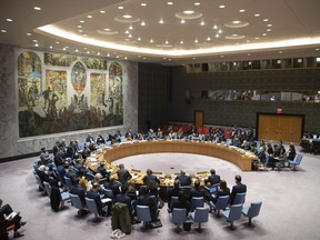 The Security Council meets on the situation in Syria, Thursday, Oct. 24, 2019 at United Nations headquarters.