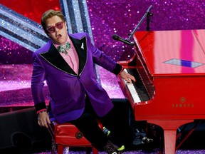 Files: Elton John performs during the 92nd Annual Academy Awards at Dolby Theatre on February 9, 2020 in Hollywood.