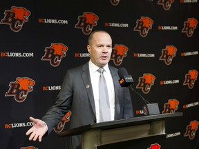 Rick Campbell was named the new head coach of the B.C. Lions at the team's Surrey training facility on Dec. 2, 2019.