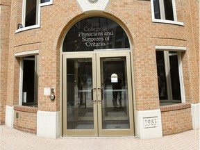 College of Physicians and Surgeons of Ontario in Toronto