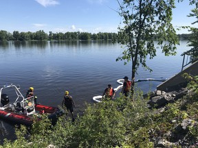 Ottawa Fire Services Haz-Mat and water rescue technicians are working to control a fuel leak into the Ottawa River near Ogilvie Road.