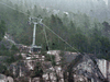 The Sea To Sky Gondola after vandals cut the cable for the second time in thirteen months, Squamish, BC., on September 14, 2020.