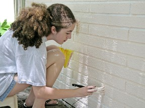 Bricks can be painted to change their appearance, but here in Canada you must use a breathable paint to prevent brick damage and flaking.
