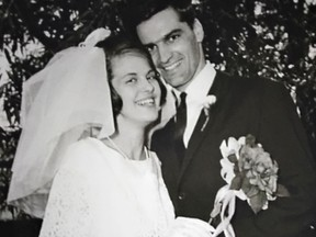 Marielle Gervais Crabbe and Ken Crabbe on their wedding day. Ken died of COVID-19 on May 8, 2020. (Credit: Supplied photo, courtesy of Marielle Gervais Crabbe)